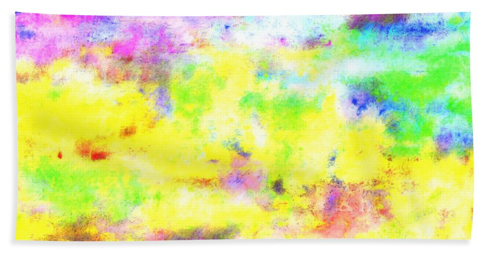 Pattern Hand Towel featuring the digital art Pastel Abstract Patterns I by Debbie Portwood