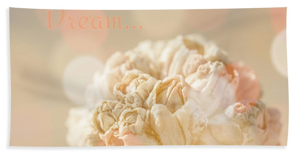 Pastel Peach Bath Sheet featuring the photograph Pastel Dream by Lucid Mood