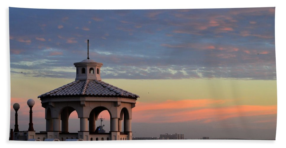 Water Hand Towel featuring the photograph Pastel Sky by Leticia Latocki
