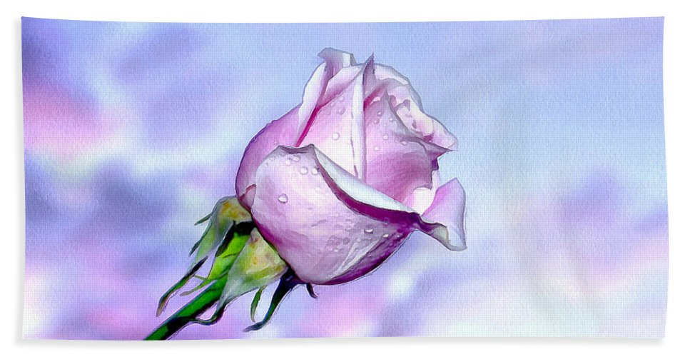 Rose Hand Towel featuring the photograph Pastel Summer by Krissy Katsimbras