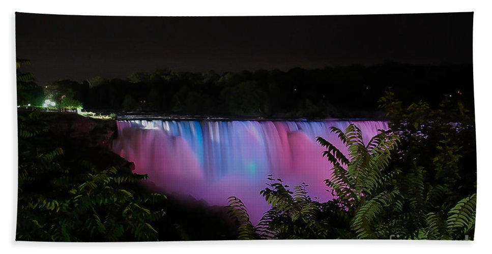Nature Bath Sheet featuring the photograph Pastels At Night by Bianca Nadeau