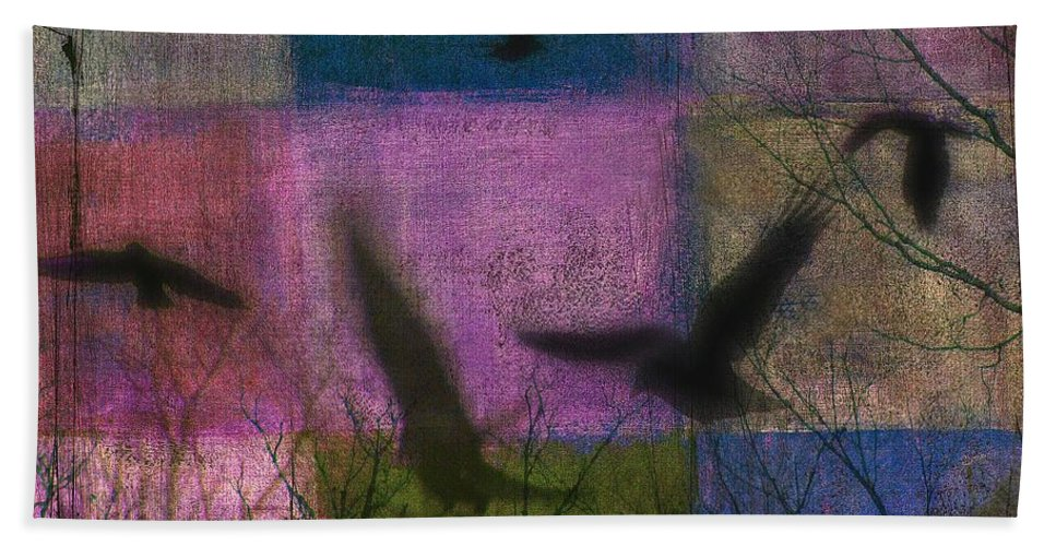 Crows Bath Sheet featuring the digital art Patched Quilt by Gothicrow Images