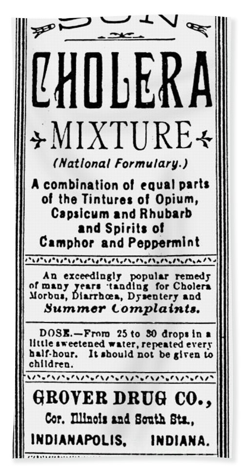 1890s Bath Sheet featuring the photograph Patent Medicine: Opium by Granger