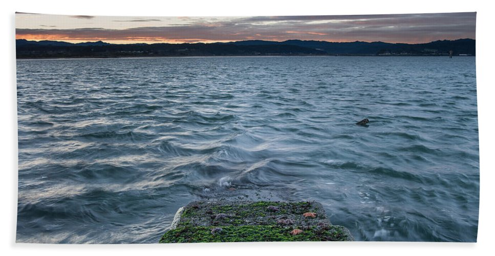Humboldt Bay Hand Towel featuring the photograph Path To The Bay by Greg Nyquist