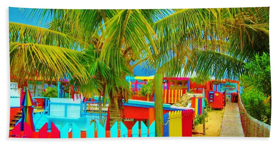 Keri West Bath Sheet featuring the photograph Pathway To Rum by Keri West