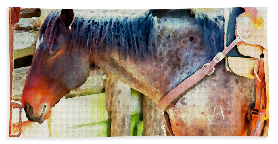 Horse Bath Sheet featuring the photograph Patiently Waiting Two by Alice Gipson