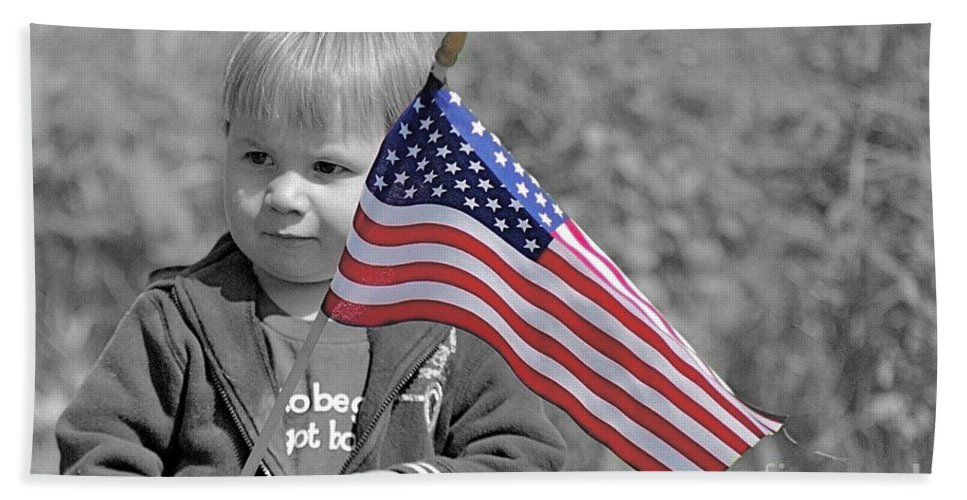 Child Bath Towel featuring the photograph Patriot by Rick Monyahan