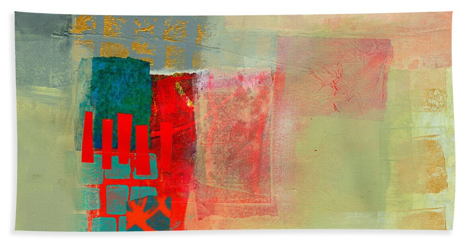Abstract Hand Towel featuring the painting Pattern Study #2 by Jane Davies