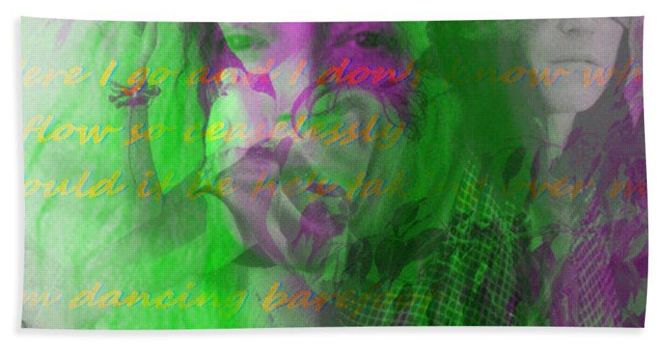 Fractal Art Bath Sheet featuring the digital art Patti Smith Dancing Barefoot by Elizabeth McTaggart