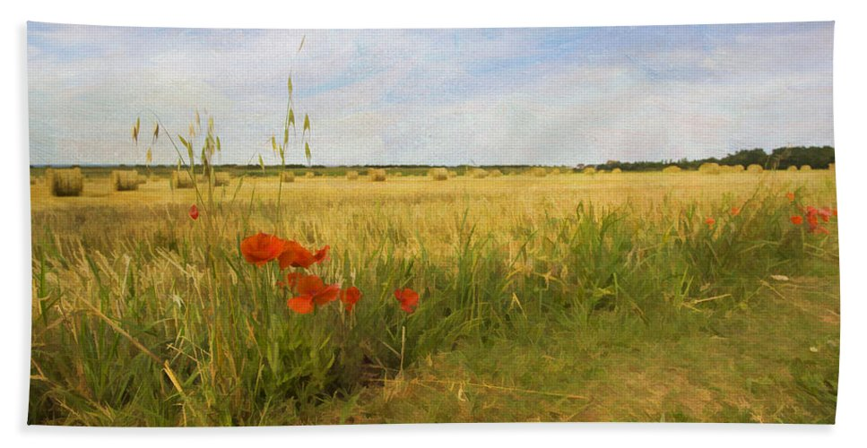 Normandy Hand Towel featuring the photograph Paysage De Normandie by Jean-Pierre Ducondi