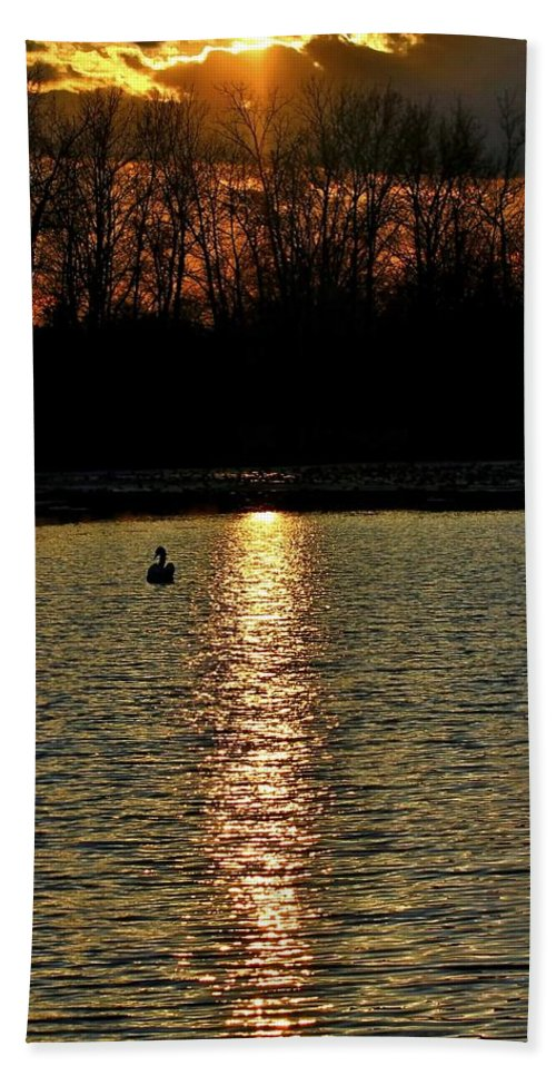 Sunset Bath Sheet featuring the photograph Peace 2 by Michael J Samuels