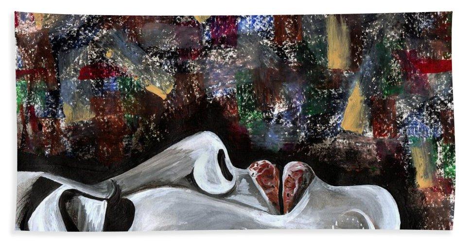 Art Bath Towel featuring the photograph Peace Amidst Turmoil by Artist RiA