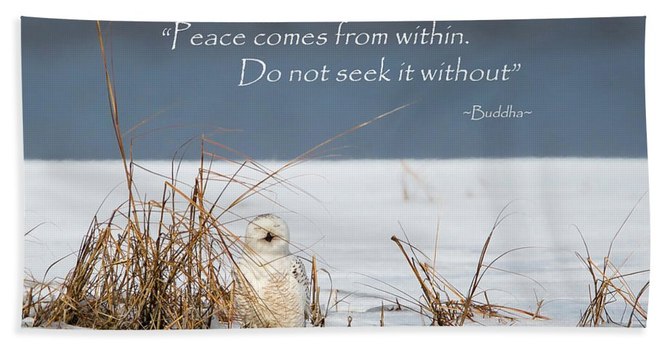 Quote Hand Towel featuring the photograph Peace by Bill Wakeley