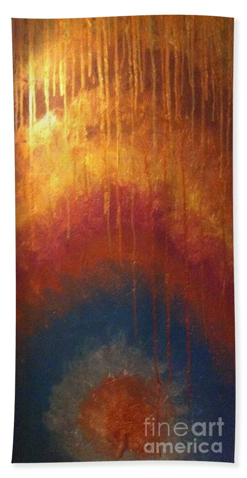 Hand Towel featuring the painting Peace by Cynthia Williams