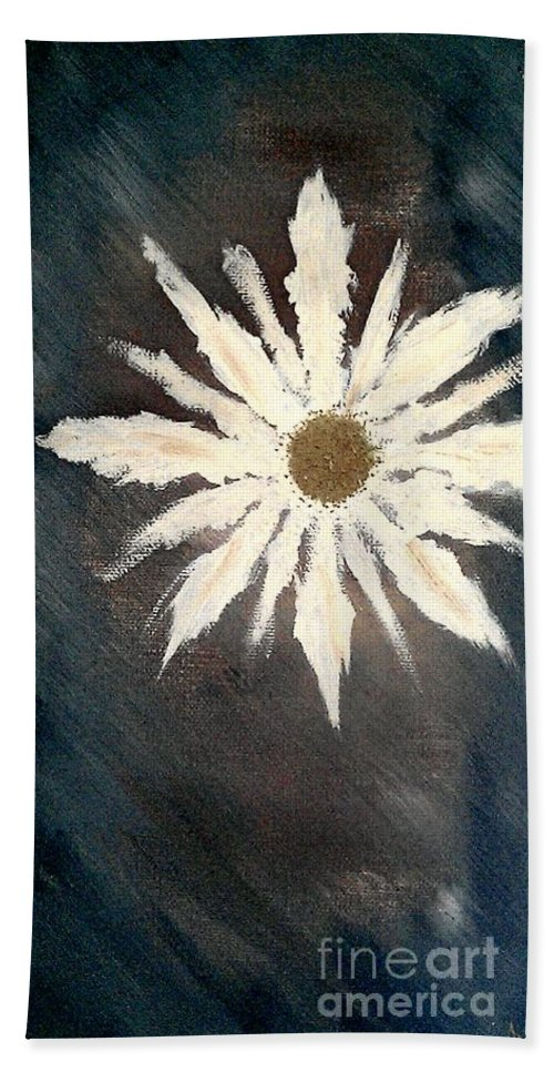 Peace Flower Hand Towel featuring the painting Peace Flower by Jacqueline McReynolds