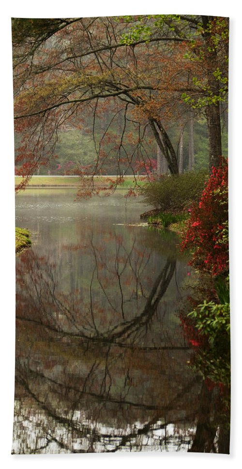 Callaway Bath Sheet featuring the photograph Peace In A Garden by Kathy Clark
