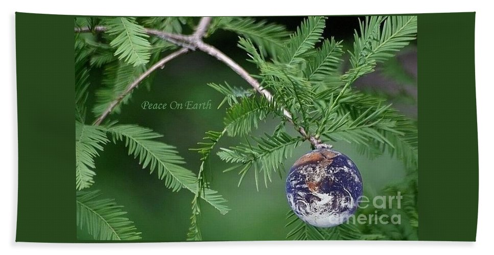 Earth Bath Sheet featuring the photograph Peace On Earth by Living Color Photography Lorraine Lynch
