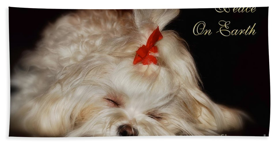 Christmas Hand Towel featuring the photograph Peace On Earth by Lois Bryan