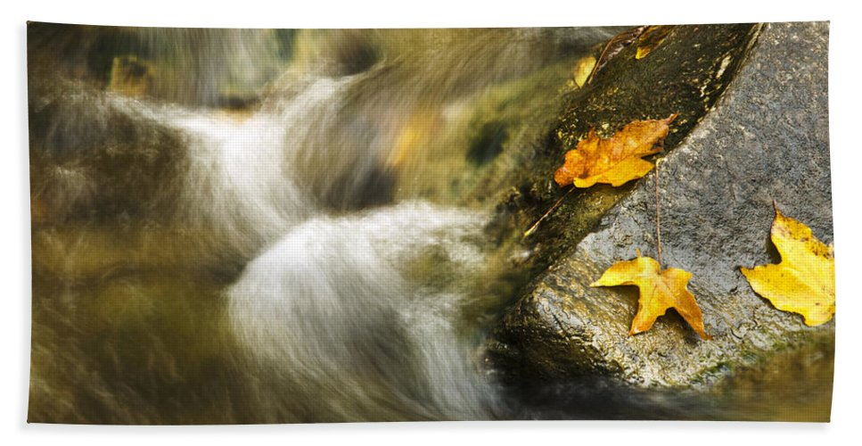 Peaceful Hand Towel featuring the photograph Peaceful Creek by Christina Rollo