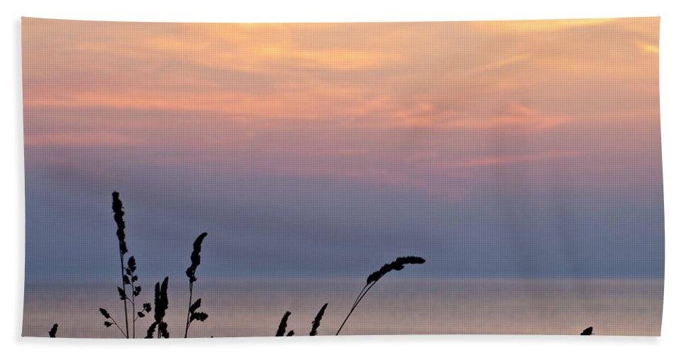 Sunset Hand Towel featuring the photograph Peaceful Evening by Shannon Workman
