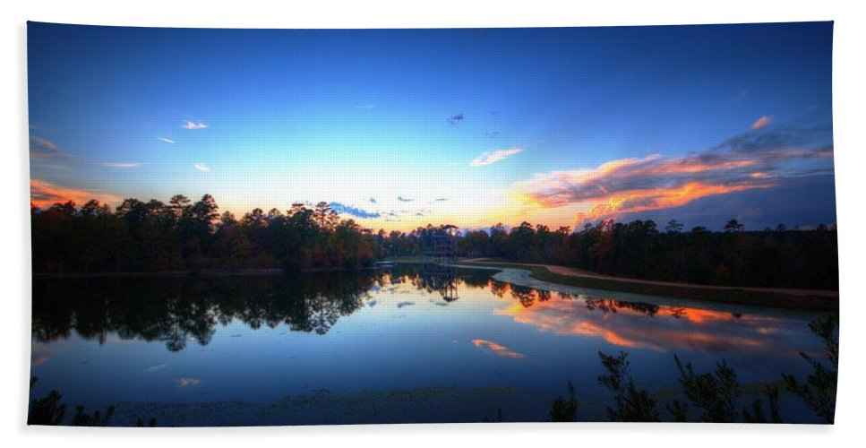 Allaso Ranch Bath Sheet featuring the photograph Peaceful Sunset by David Morefield