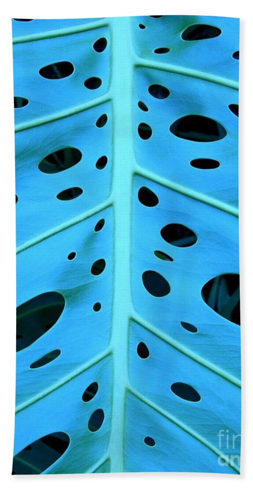 Blue Bath Towel featuring the photograph Peek-a-boo Leaf by Mary Deal