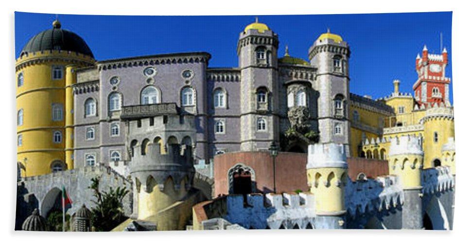 Palace Bath Sheet featuring the photograph Pena National Palace by Jose Elias - Sofia Pereira