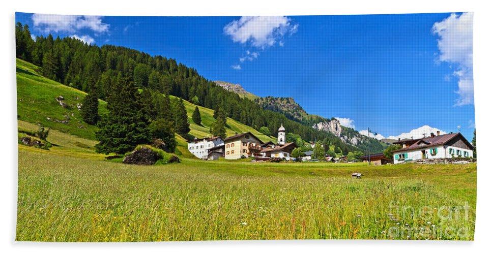 Alpine Hand Towel featuring the photograph Penia - Fassa Valley by Antonio Scarpi