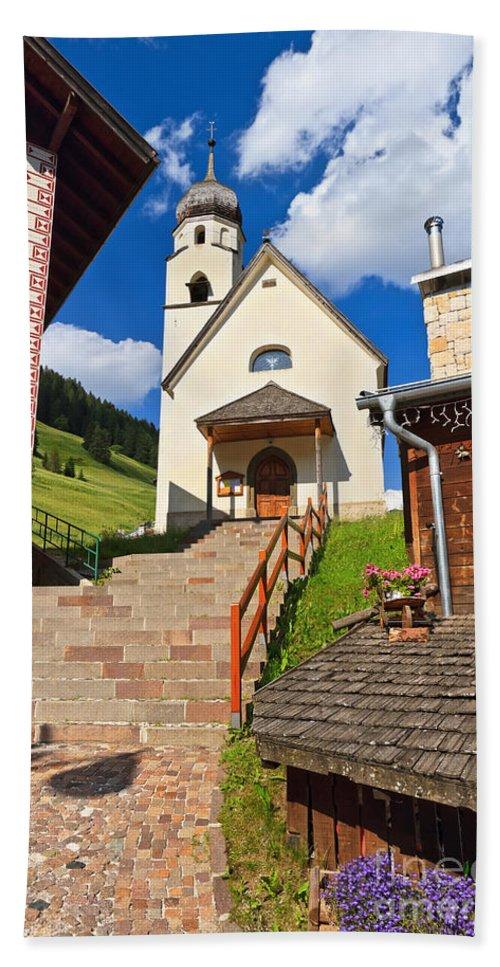 Alpine Hand Towel featuring the photograph Penia - Small Church by Antonio Scarpi