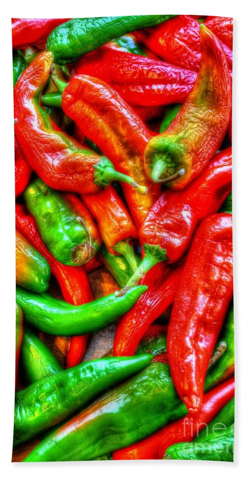 Agriculture Bath Sheet featuring the photograph Peppers by Dan Stone
