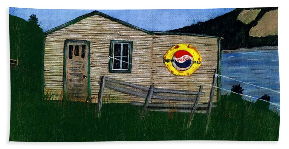 Pepsi Hand Towel featuring the painting Pepsi Remember When by Barbara Griffin