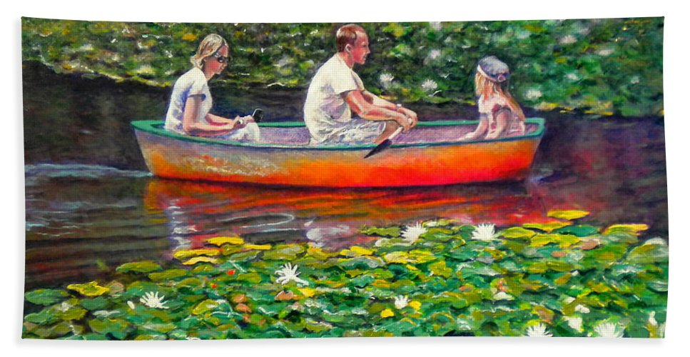 Water Lily Hand Towel featuring the painting Perfect Afternoon by Michael Durst