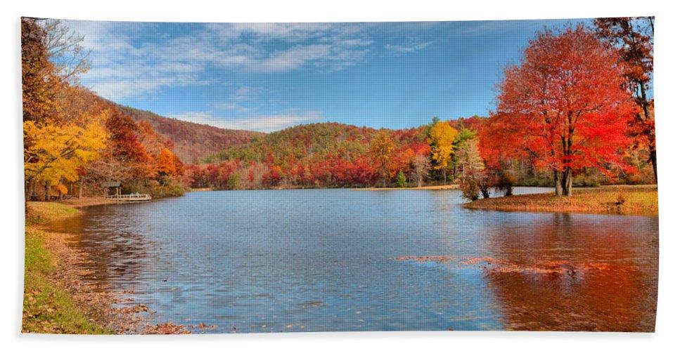 Sherando Bath Sheet featuring the photograph Perfect Autumn Day by Lynn Bauer