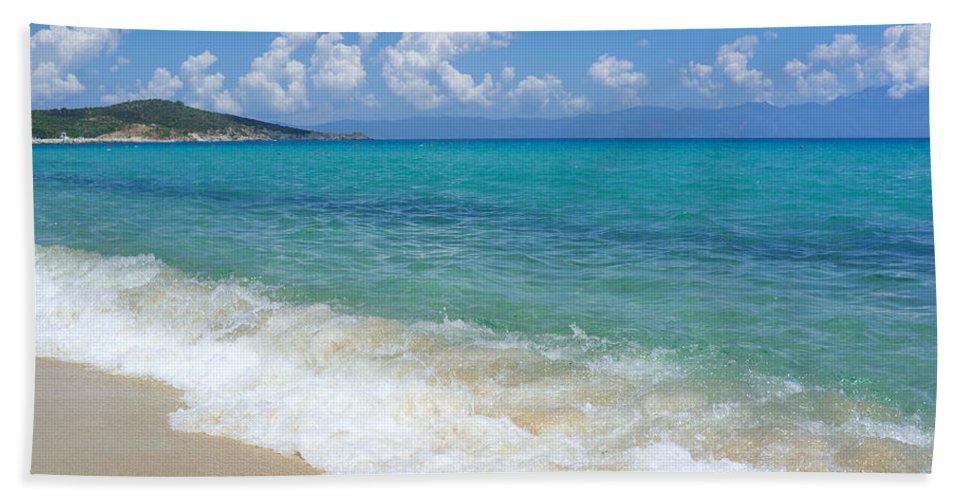 Beach Hand Towel featuring the photograph Perfect Beach by Grigorios Moraitis