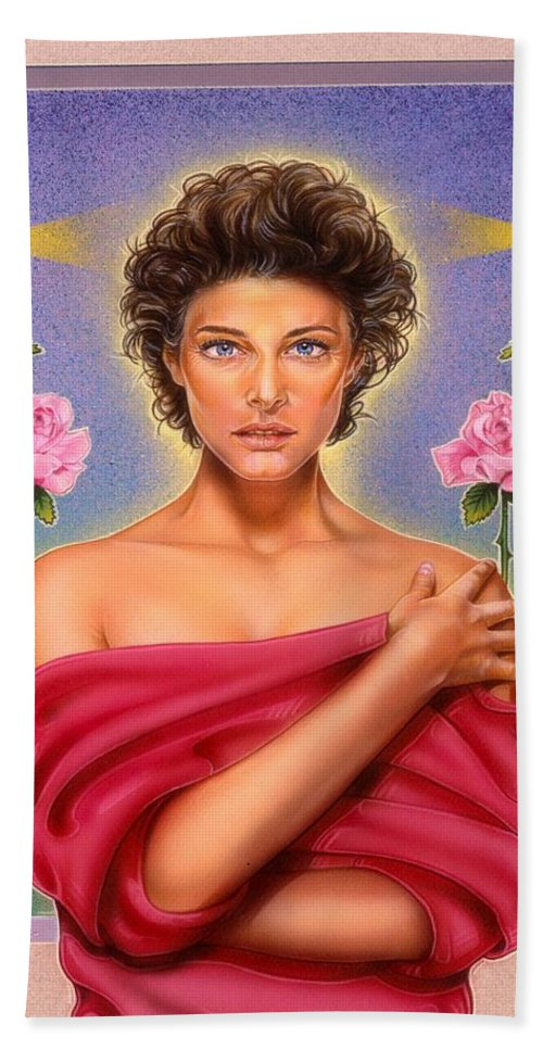 Fantasy Hand Towel featuring the painting Perfume by Timothy Scoggins