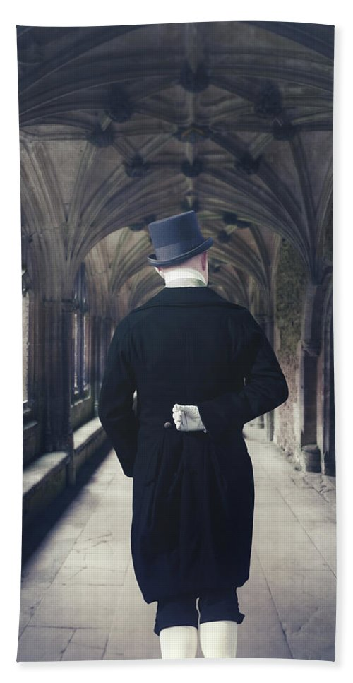 Man Bath Sheet featuring the photograph Period Gentleman by Joana Kruse