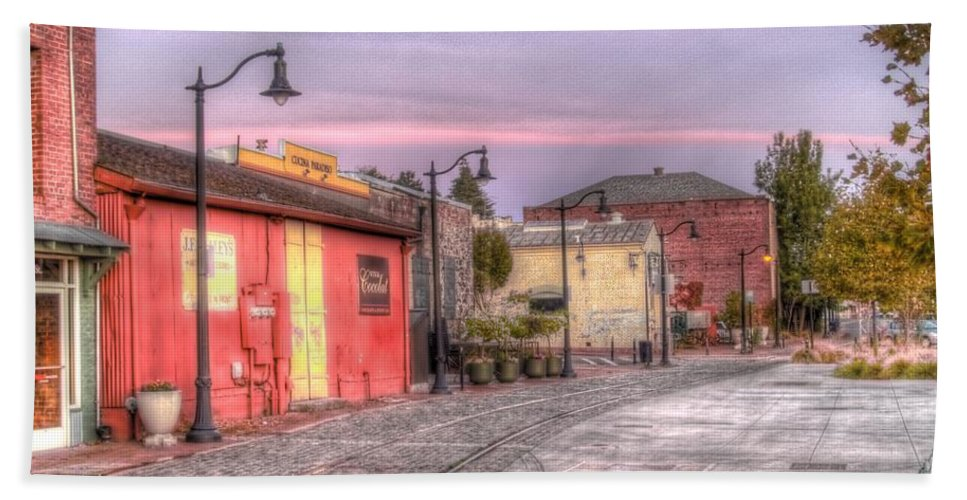 Petaluma Bath Sheet featuring the photograph Petaluma Morning by Bill Gallagher