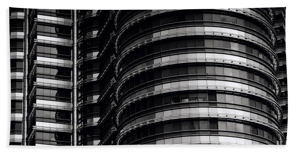 Petronas Towers Bath Sheet featuring the photograph Petronas Detail by Shaun Higson