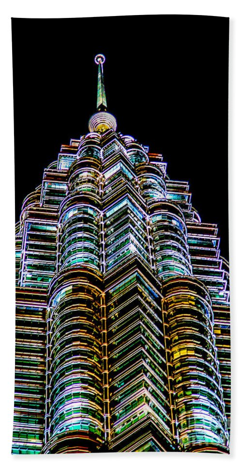 451.9 M Bath Sheet featuring the photograph Petronas Tower by Adrian Evans