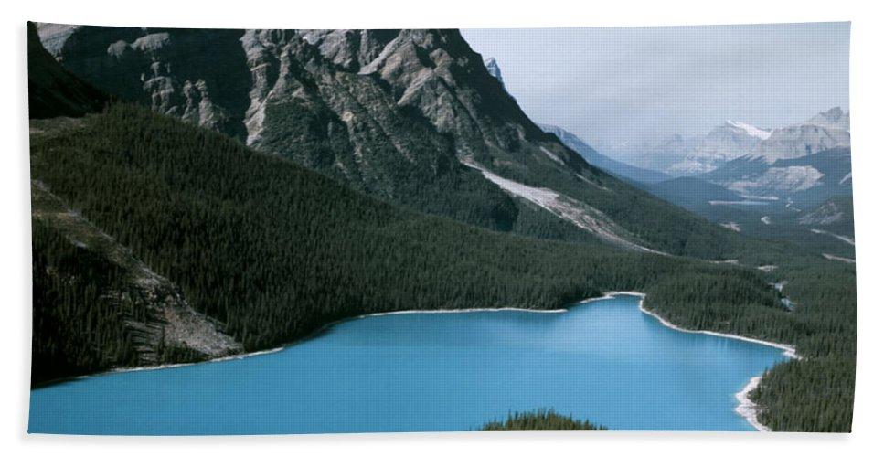 Alberta Bath Sheet featuring the photograph Peyto Lake by Roderick Bley
