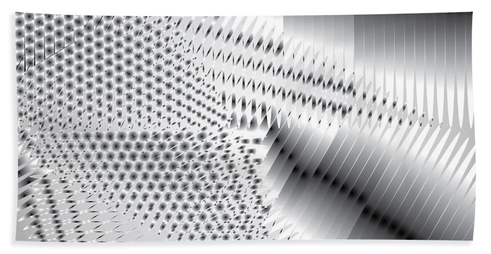 Grayscale Bath Sheet featuring the digital art Phalanx 30 Shatter by Kevin McLaughlin