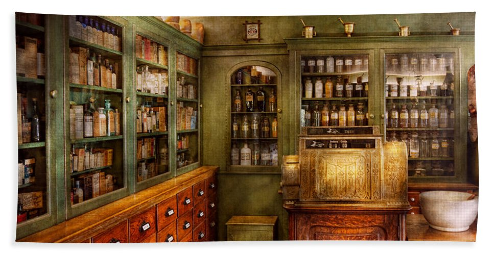 Doctor Hand Towel featuring the photograph Pharmacy - Room - The Dispensary by Mike Savad