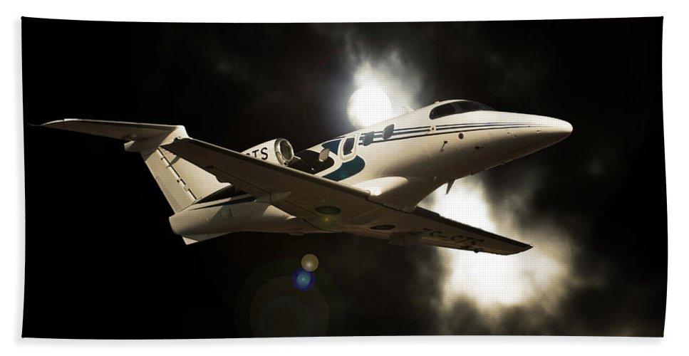 Embraer Phenom 100 Bath Sheet featuring the photograph Phenom Light by Paul Job