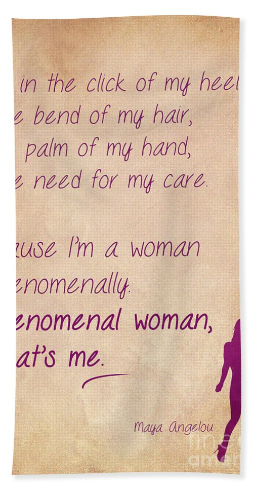 Phenomenal Woman Quotes 60 Bath Towel For Sale By Nishanth Gopinathan Adorable Phenomenal Woman Quotes