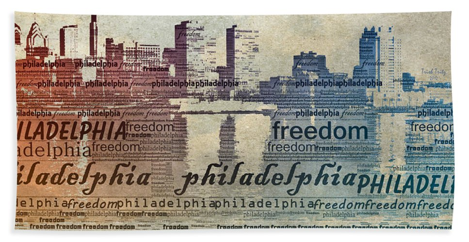 Philadelphia Bath Sheet featuring the photograph Philadelphia Freedom by Trish Tritz