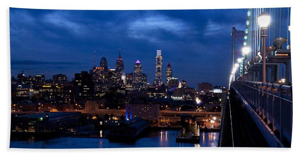Philadelphia Bath Sheet featuring the photograph Philadelphia Twilight by Jennifer Ancker
