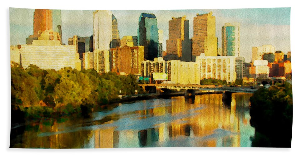 Philadelphia Hand Towel featuring the photograph Philly Gleamin by Alice Gipson