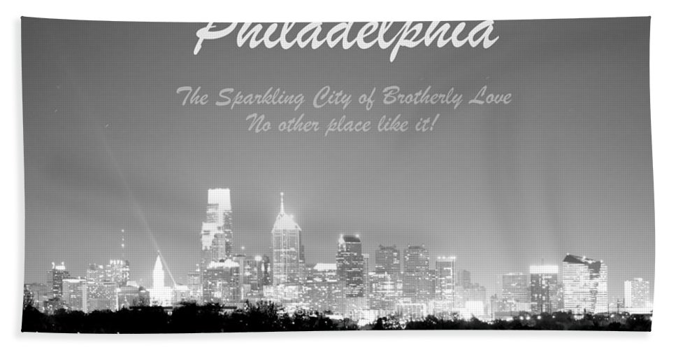 Philadelphia Bath Sheet featuring the photograph Philly Glow by Deborah Crew-Johnson