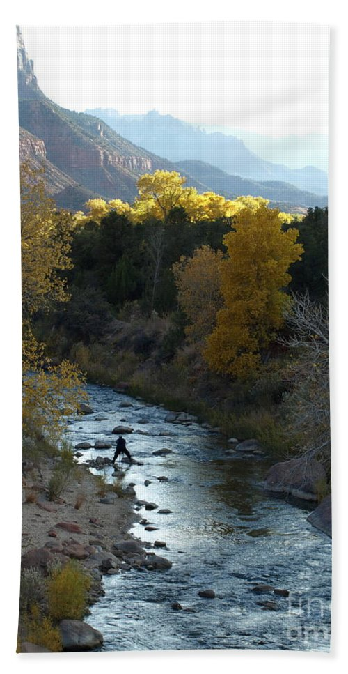 National Park Bath Sheet featuring the photograph Photographing Zion National Park by Jacklyn Duryea Fraizer