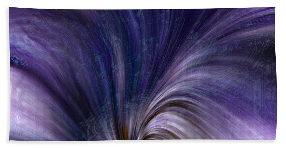 Abstract Hand Towel featuring the digital art Photonic Cascade At The Sea Of Solitude by Richard Thomas